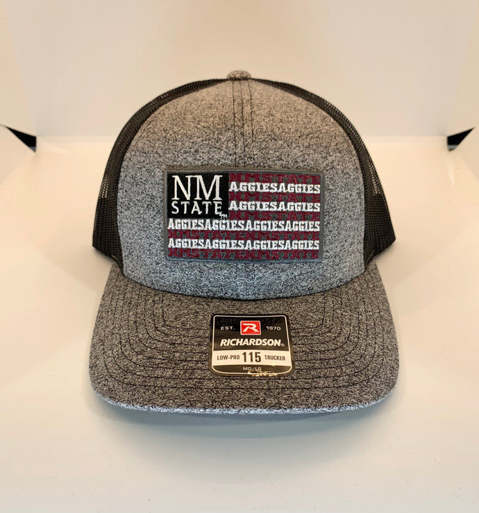 NMSU Flag Low Pro Heather Trucker