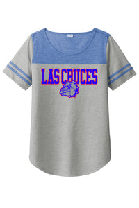 Ladies Las Cruces Bulldawgs Tri-Blend Wicking Fan Tee