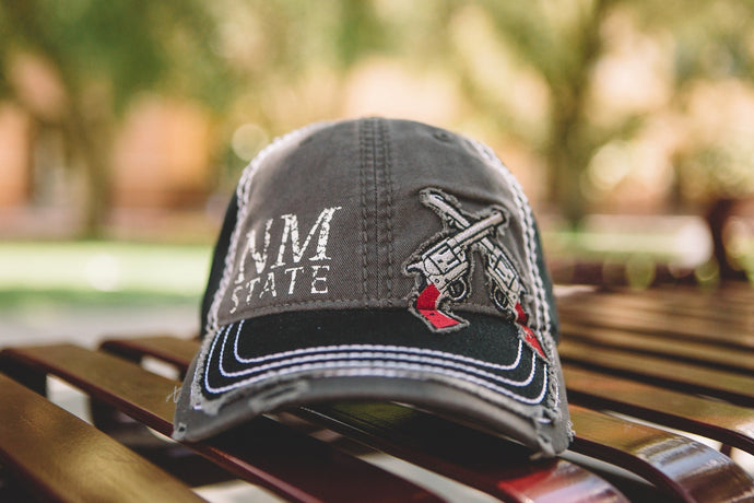 Distressed NM State Guns Hat