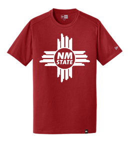 NM State Zia New Era Heritage Blend Crew Tee