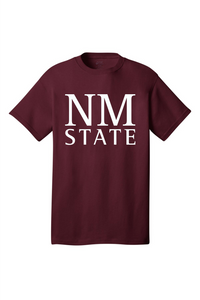 NM State Stacked Cotton Tee