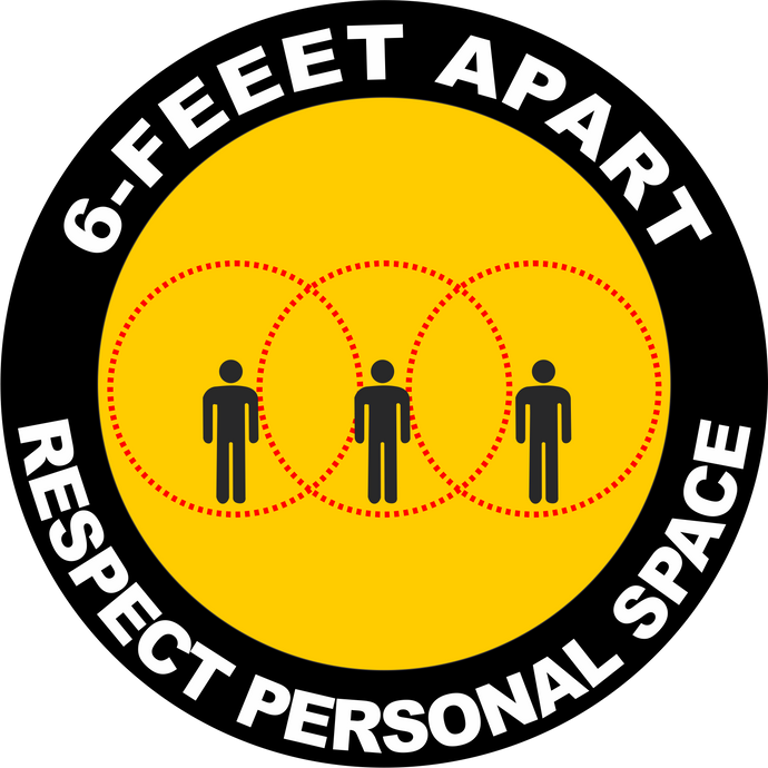 Respect Personal Space Social Distancing Decal