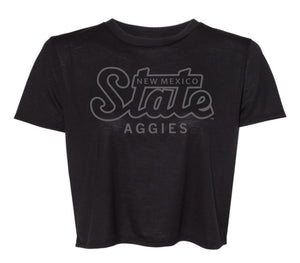 State Aggies Flowy Cropped Tee