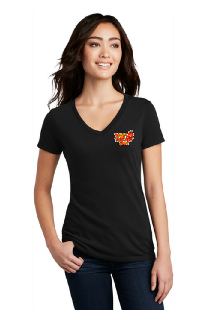Virtually the Best Teacher Ever Ladies' V-Neck Tee
