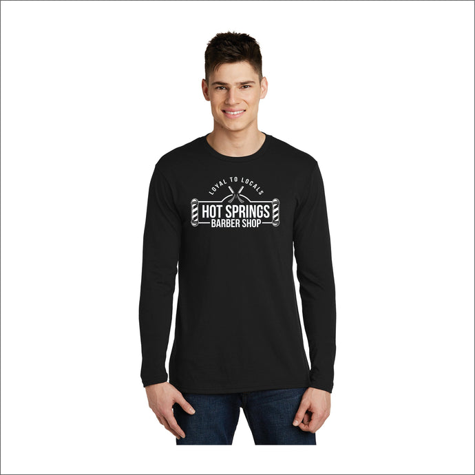Hot Springs Barbershop Loyal To Locals Long-Sleeve Tee