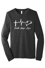 Load image into Gallery viewer, Faith Hope Love Long-Sleeve Tee