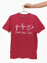 Load image into Gallery viewer, Faith Hope Love Tee