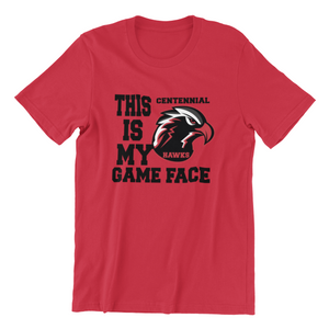 Centennial High School Game Face Tee
