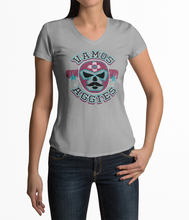 Load image into Gallery viewer, Women's Vamos Aggies Luchador Tri-Blend V-Neck