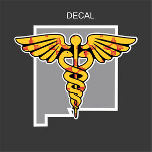 New Mexico Caduceus Decal