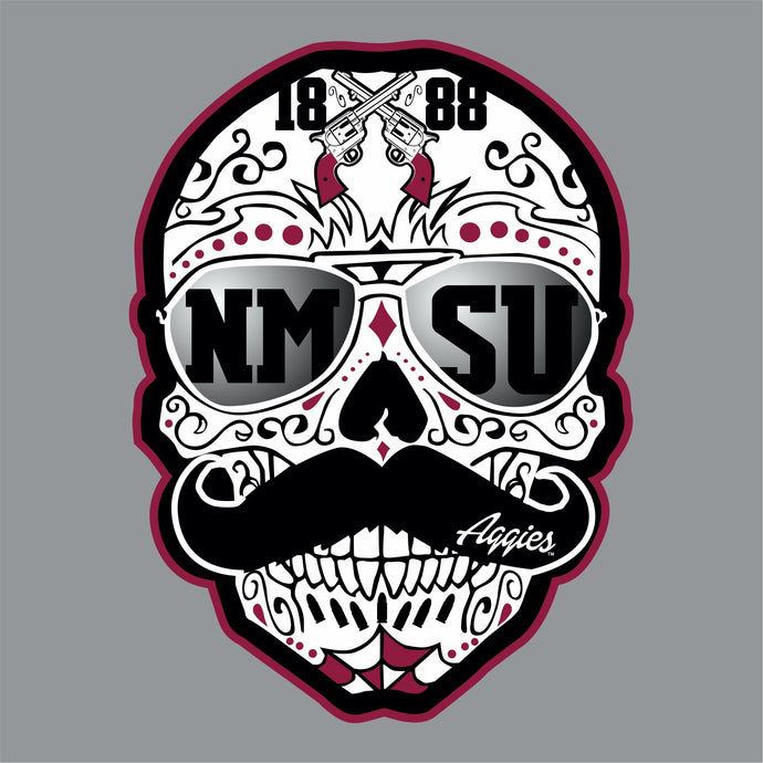 NMSU Sugar Skull Decal