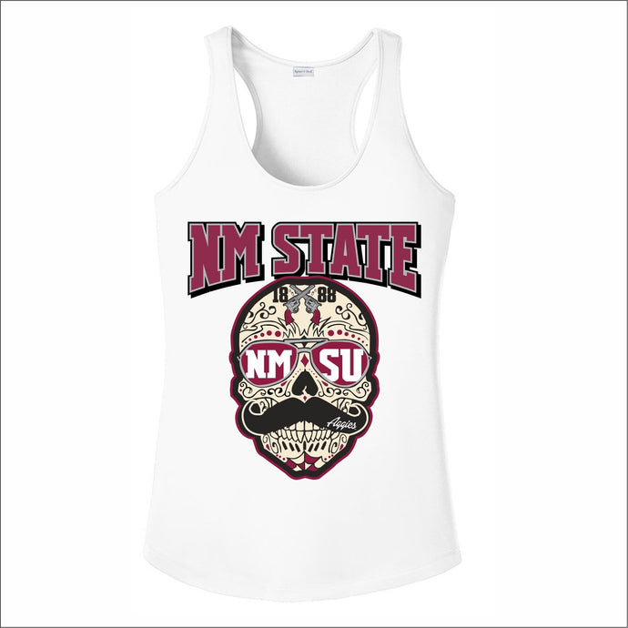 Women's NM State Sublimated Sugar Skull Tank Top