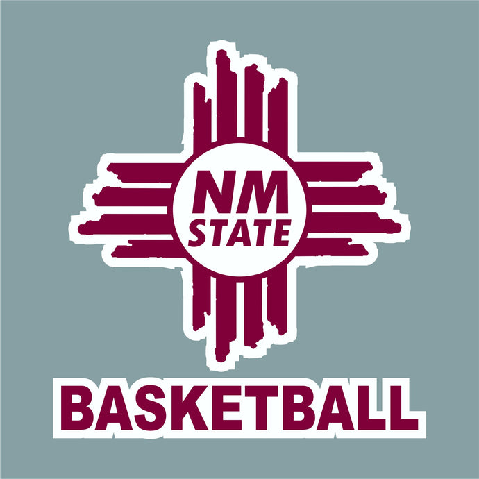 NM State Zia Basketball Decal