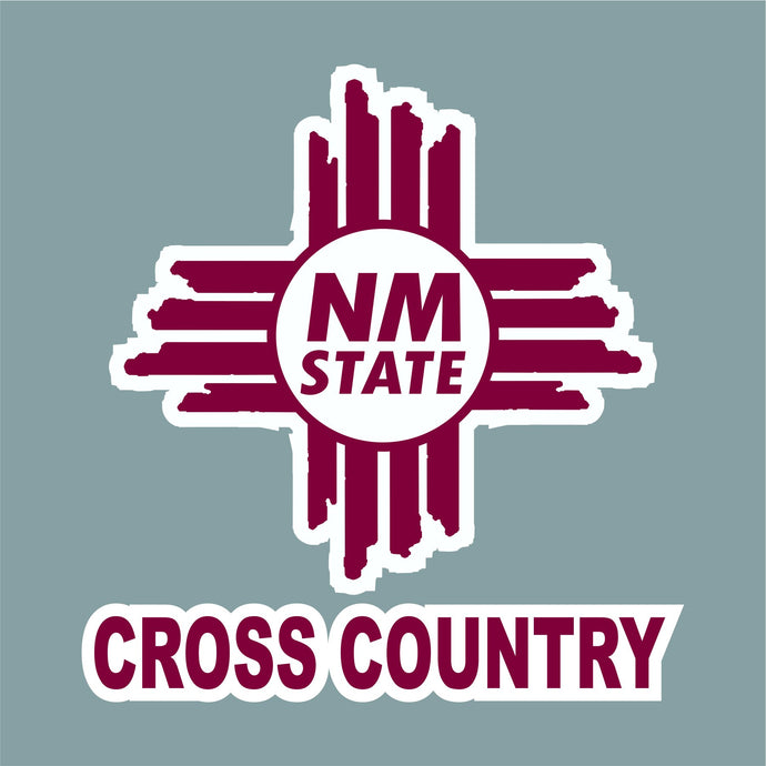NM State Zia Cross Country Decal