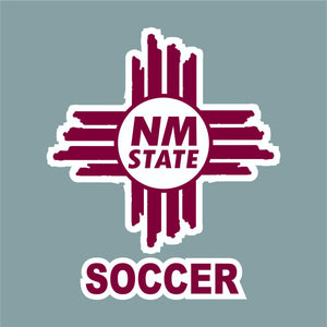 NM State Zia Soccer Decal
