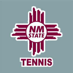 NM State Zia Tennis Decal