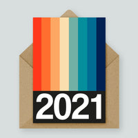 Rainbow Stripe Year Card (Available in 2020 and 2021)