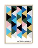 The Love Triangle 1954 Giclée Print (BLUE)