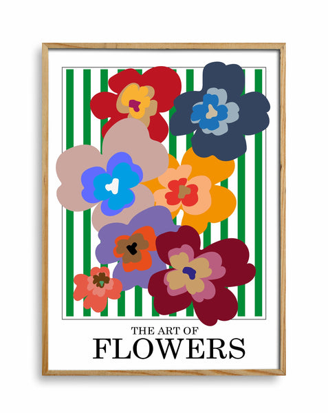 The Art Of Flowers Case Study: 001 Giclée Art Print (Green Stripe)