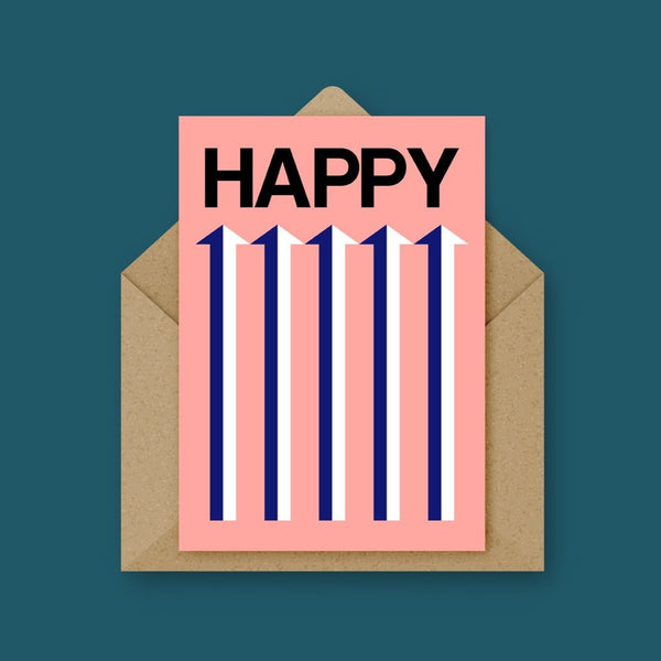 HAPPY Card - Pink