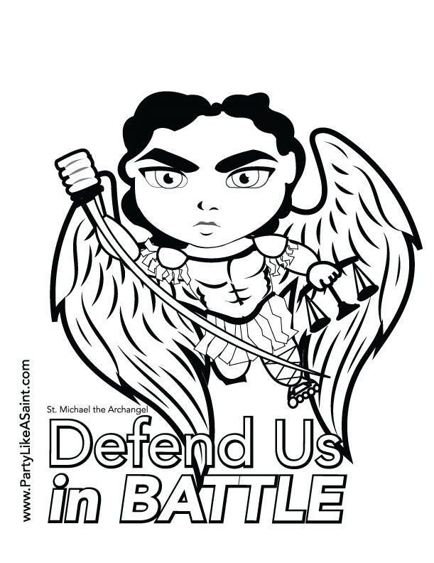 St. Michael the Archangel coloring page