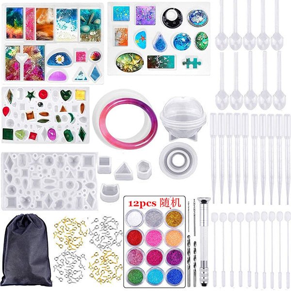 (🔥HOT SALE🔥 229 PCS KIT ) DIY Crystal Glue Jewelry Can Make All Products
