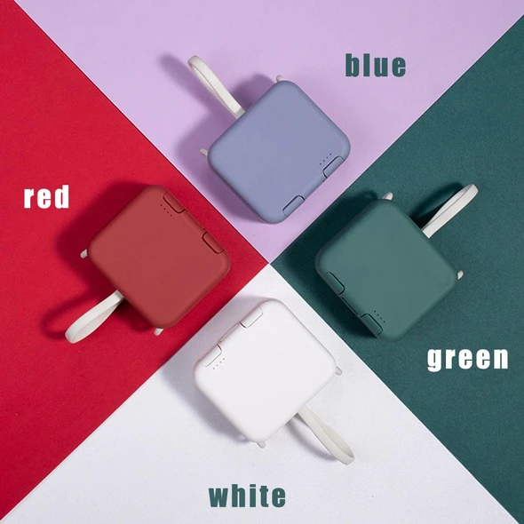 50% OFF 2020 new multi-function with own cord handbag back clip power bank