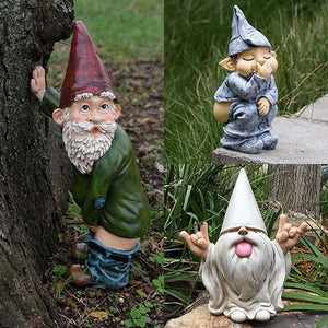 Funny Dwarfs Resin Ornaments Naughty Gnome Garden Decoration