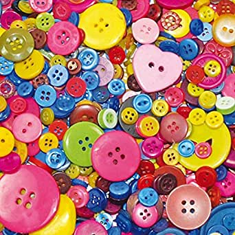 hobby craft collector picks up buttons, jewellery beads, hama beads, crystal art