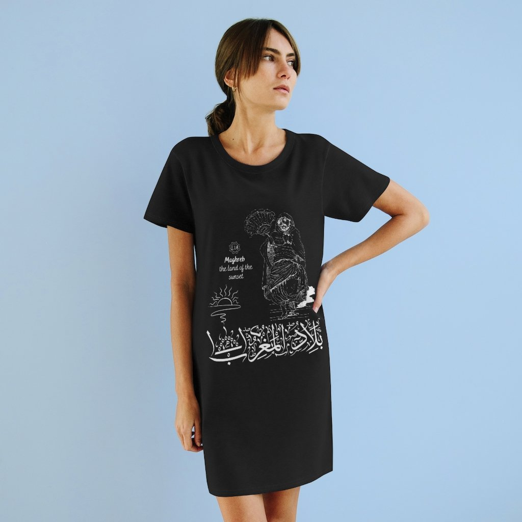 Organic T-Shirt Dress (The Land of the Sunset, Maghreb Design)