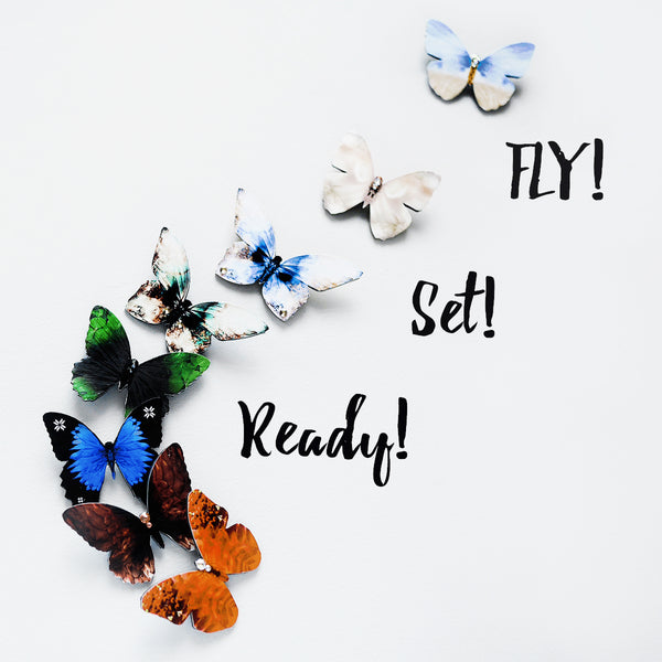 Ready, set, FLY! - New Kuma Design Butterfly Brooches