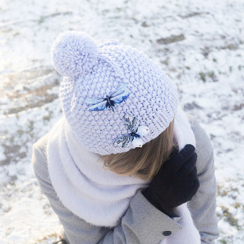 1543d0783e57 How to style your KUMA butterfly brooch during the winter season ...