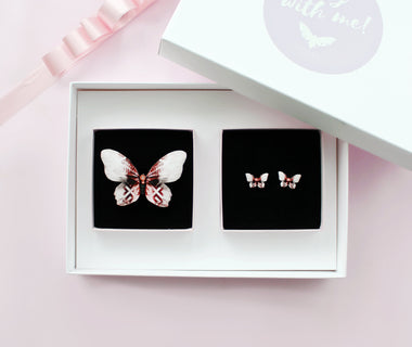 KUMA Gift Set XI - Butterfly Brooch + Earrings