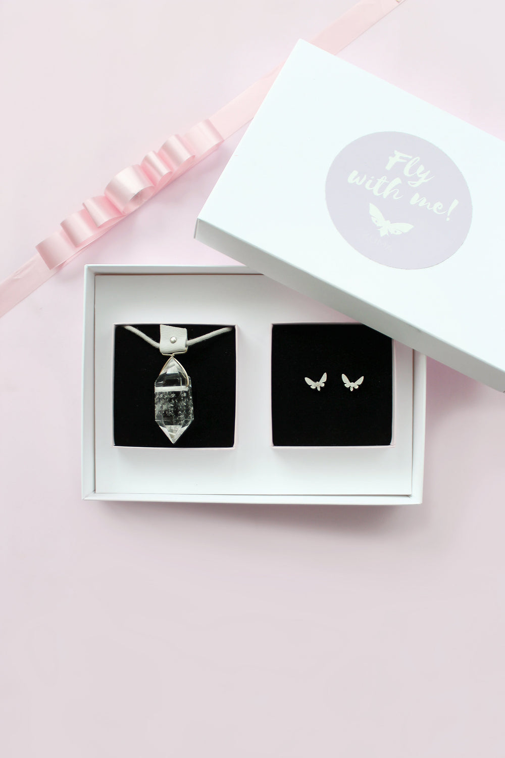 KUMA Gift Set I - Energy Necklace + Butterfly Effect Earrings - KUMA Design Store