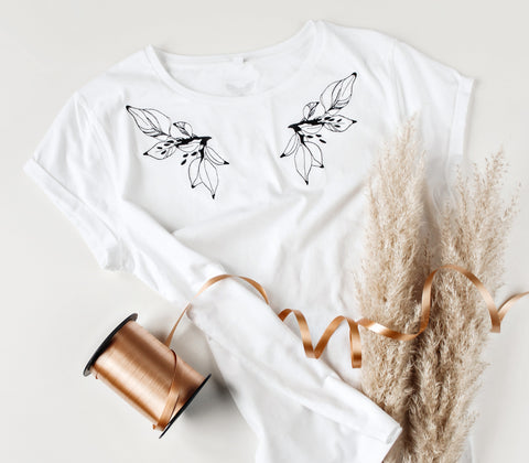 Wings of Life embroidered t-shirt (white)