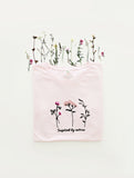 Pink Blossoms embroidered t-shirt (pink)