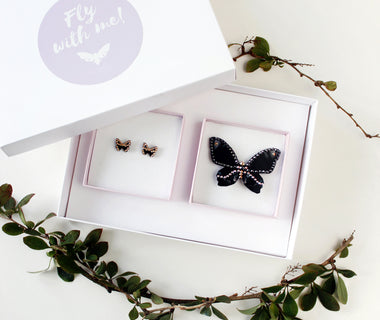 KUMA Gift Set IX - Butterfly Brooch + Earrings
