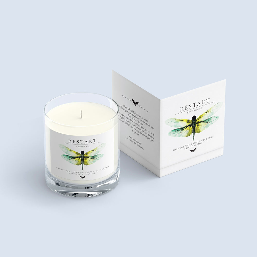 KUMA Restart candle (lemongrass) - KUMA Design Store