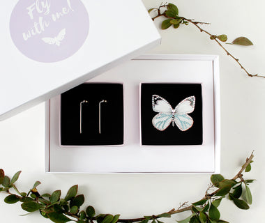 KUMA Gift Set VI - Butterfly Brooch + Earrings
