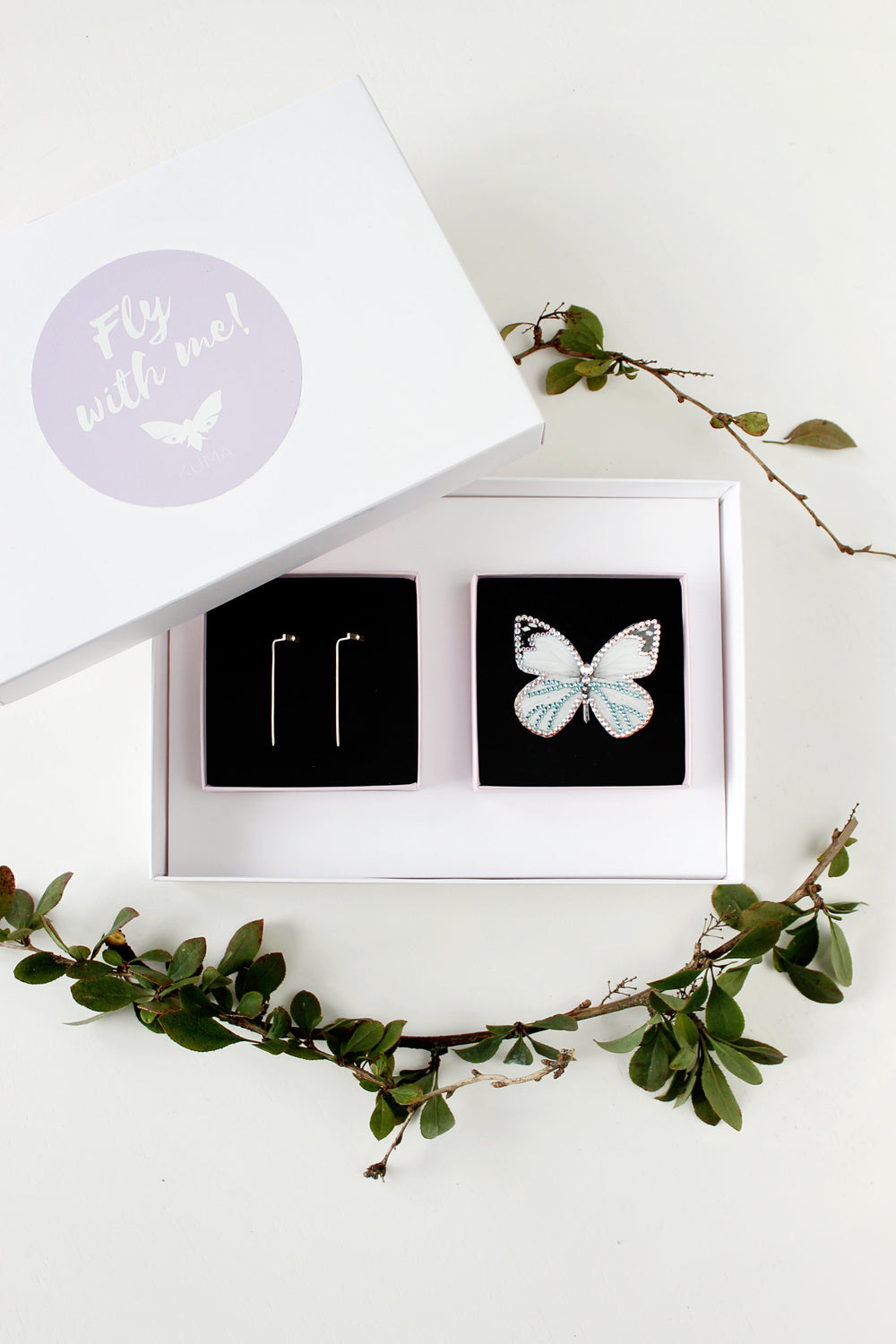 KUMA Gift Set VI - Butterfly Brooch + Earrings - KUMA Design Store