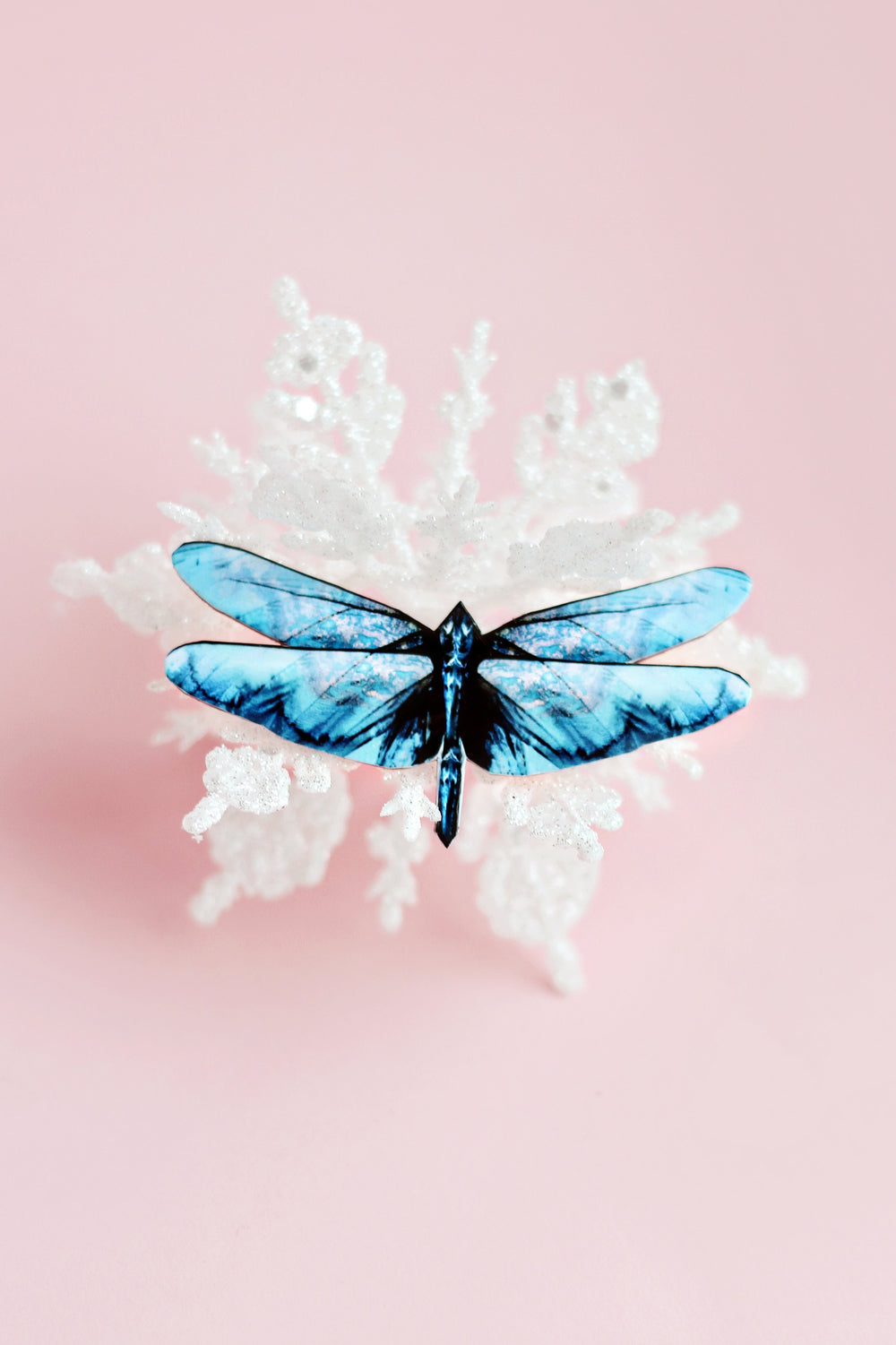 Frosty the Dragon Butterfly Brooch