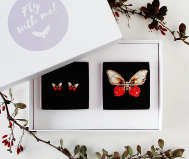 KUMA Gift Set VIII - Butterfly Brooch + Earrings