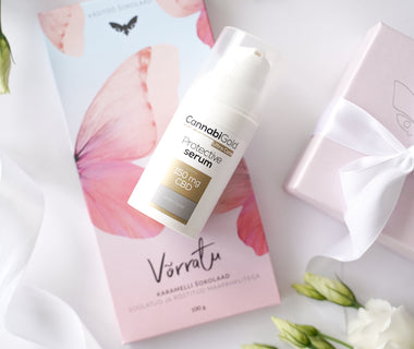 "KUMA ""Võrratu"" chocolate x CannabiGold face serum Gift Set"