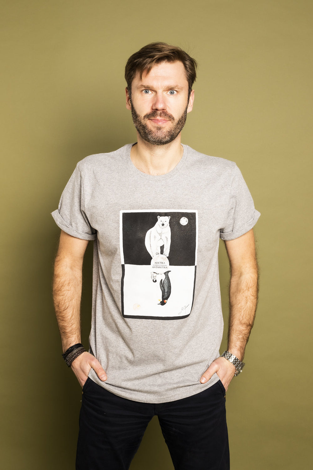 Poles Mens t-shirt (grey) - KUMA Design Store