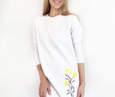 Little Miss Sunshine embroidered sweatshirt-dress