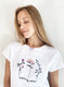 Pink Blossoms embroidered t-shirt - KUMA Design Store