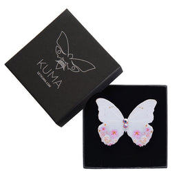 Spring Halo Butterfly Brooch