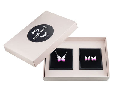 KUMA Gift Set I - Butterfly Necklace + Earrings