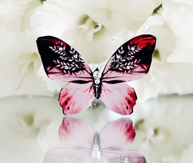 Queen of Hearts Butterfly Brooch