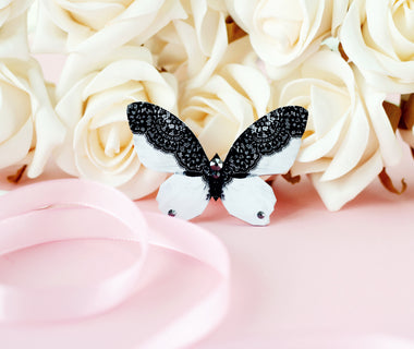 White Lace Butterfly brooch